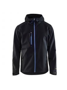 Softshell Jack 4949 Zwart/Korenblauw - Blåkläder