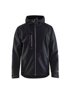 Softshell Jack 4949 Zwart/Zilver - Blåkläder