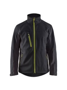 Blåkläder 4950-2516 Softshell Jacket - Black/High Vis Yellow
