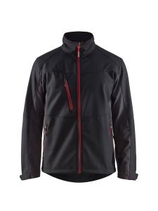 Blåkläder 4950-2516 Softshell Jacket - Black/Red
