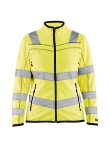 Ladies Microfleece Jacket High Vis 4966 Yellow - Blåkläder