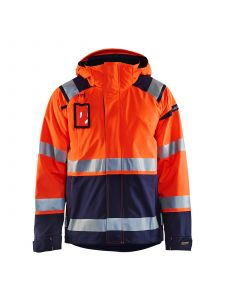High Vis Shell Jacket 4987 High Vis Oranje/Marineblauw - Blåkläder