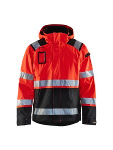 High Vis Shell Jacket 4987 High Vis Rood/Zwart - Blåkläder