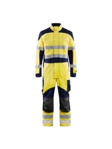 Multinorm Overall Inherent 6089 High Vis Geel/Marineblauw - Blåkläder