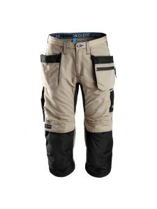 Snickers 6103 LiteWork, 37.5® Work Pirate Trousers+ with Holster Pockets - Khaki