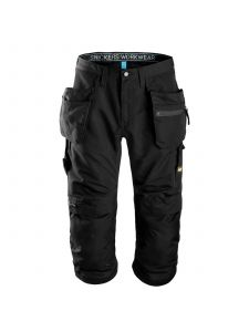 Snickers 6103 LiteWork, 37.5® Work Pirate Trousers+ with Holster Pockets - Black