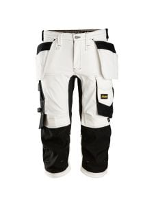 Snickers 6142 AllroundWork, Stretch Pirate Work Trousers with Holster Pockets - White