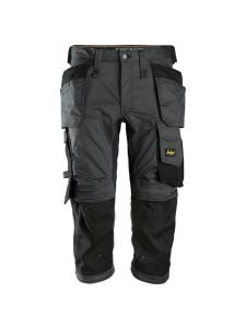 Snickers 6142 AllroundWork, Stretch Pirate Work Trousers with Holster Pockets - Steel Grey