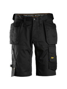 Snickers 6151 AllroundWork, Stretch Loose fit Work Shorts with Holster Pockets - Black
