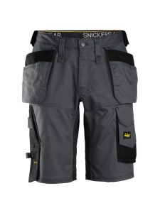 Snickers 6151 AllroundWork, Stretch Loose fit Work Shorts with Holster Pockets - Steel Grey