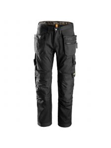 Snickers 6200 AllroundWork, Work Trousers+ with Holster Pockets - Black