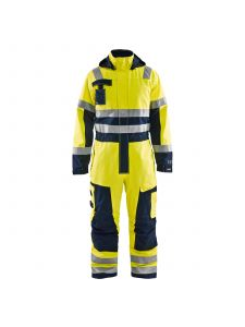Multinorm Winter Overall 6368 High Vis Geel/Marineblauw - Blåkläder