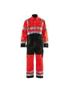 High Vis Overall 6373 High Vis Rood/Zwart - Blåkläder