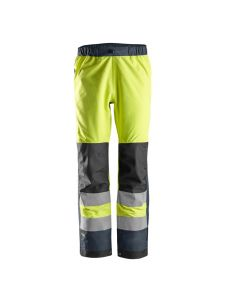 Snickers 6530 AllroundWork, High-Vis Waterproof Shell Trousers Class 2 - Yellow/Navy