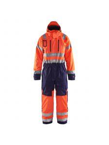 Winter Overall, High Vis 6763 High Vis Oranje/Marineblauw - Blåkläder