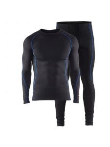 Technical Underwear Set Light 6810 Zwart/Korenblauw  - Blåkläder