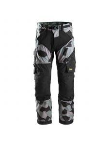 Snickers 6903 FlexiWork, Work Trousers - Grey Camo