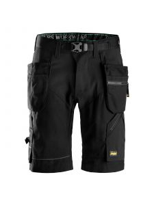 Snickers 6904 FlexiWork, Work Shorts+ with Holster Pockets - Black