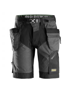 Snickers 6904 FlexiWork, Work Shorts+ with Holster Pockets - Steel Grey