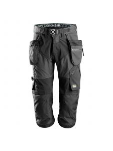 Snickers 6905 FlexiWork, Work Pirate Trousers+ with Holster Pockets - Steel Grey