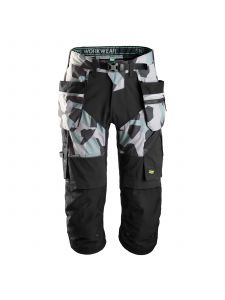 Snickers 6905 FlexiWork, Work Pirate Trousers+ with Holster Pockets - Grey Camo