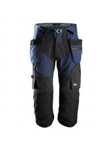 Snickers 6905 FlexiWork, Work Pirate Trousers+ with Holster Pockets - Navy