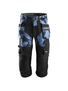Snickers 6905 FlexiWork, Work Pirate Trousers+ with Holster Pockets - Navy Camo