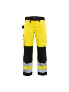 Ladies High Vis Trousers Without Holster Pockets 7155 High Vis Geel/Zwart - Blåkläder