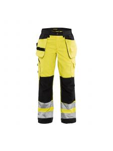 Ladies High Vis Trousers 7156 High Vis Geel/Zwart - Blåkläder