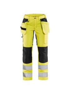 Ladies High Vis Trousers With Stretch 7163 High Vis Geel/Zwart - Blåkläder