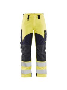 Ladies Multinorm Inherent Trouser 7189 Yellow/Navy - Blåkläder