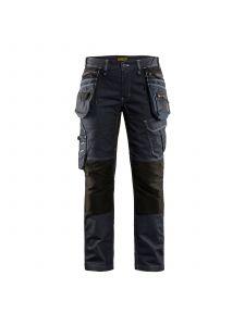 Ladies Craftman Trouser X190 Stretch 7990 Marineblauw/Zwart - Blåkläder