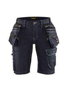 Ladies Craftsmen Trousers X1900 Stretch 7992 Marineblauw/Zwart - Blåkläder