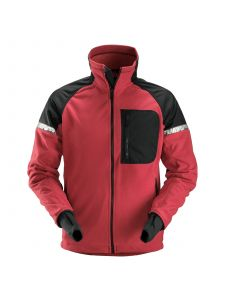 Snickers 8005 AllroundWork, Windproof Fleece Jacket - Chili Red