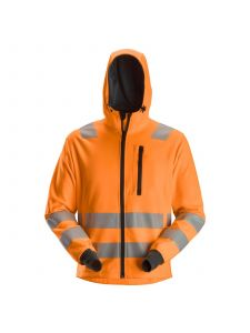 Snickers 8039 AllroundWork, High-Vis Hoodie Zipper, Class 2/3 - High Vis Orange