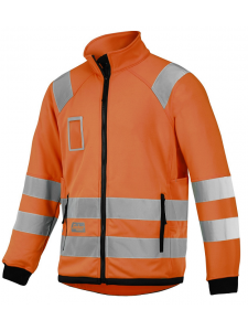 Snickers 8063 High-Vis Micro Fleece Jacket, Class 3 - High Vis Orange
