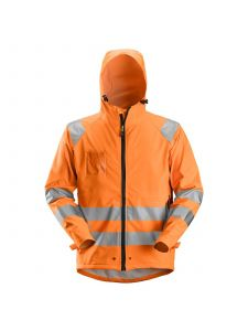 Snickers 8233 Rain Jacket High-Vis, Class 3 PU