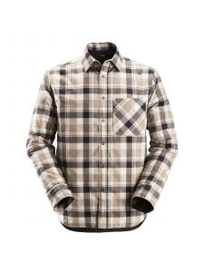 Snickers 8501 RuffWork, Padded Flannel Checked l/s Shirt - Black/Khaki