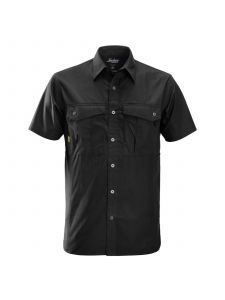 Snickers 8506 Rip Stop Shirt s/s - Black