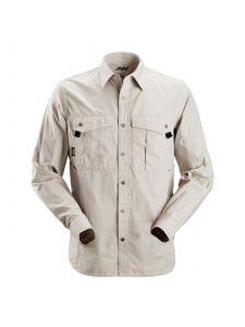 Snickers 8508 Rip Stop Shirt l/s - Aluminium Grey