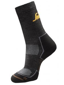 Snickers 9206 RuffWork, 2-pack Cordura Wool Socks - Anthracite/Black