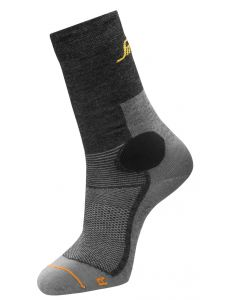 Snickers 9215 AllroundWork, 37.5 Wool Mid Sock - Grey Melange/Anthracite
