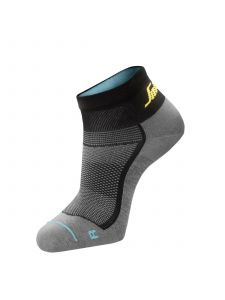 Snickers 9218 LiteWork, 37.5 Low Socks - Grey/Black