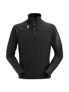 Snickers 9435 Body Mapping ½ Zip Micro Fleece - Black