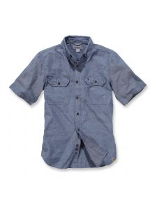 Carhartt S200 Fort Solid s/s Shirt - Denim Blue Chambray