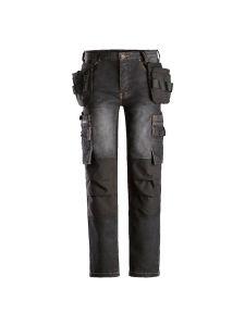 Dunderdon P18 Trousers Stretch Denim - Black