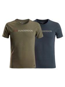 T4 T-shirt With Logo Navy Olive Green - Dunderdon Workwear by 71Workx