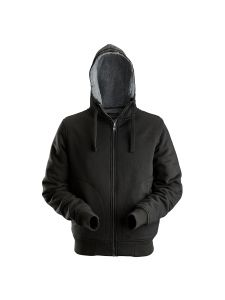 Dunderdon S18 Piled Zipped Hoodie - Black