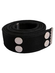 Dunderdon BE01 Canvasbelt - Black/Chrome