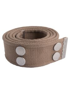 Dunderdon BE01 Canvasbelt - Khaki/Chrome